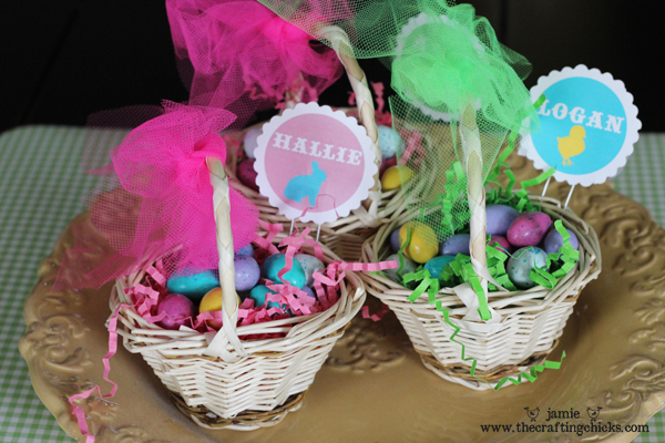 Mini Easter Basket Place Card Holders The Crafting Chicks – Easter Place Card Holders