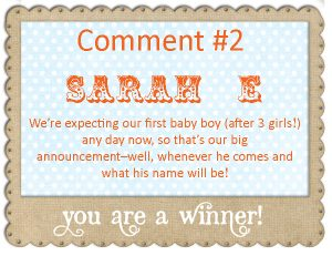 giveaway winner graphic copYshutterfly
