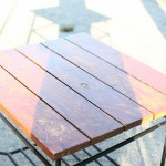 Spray Painted Side Table