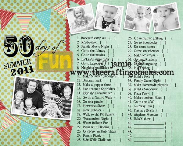 {Summer FUN Chart and Photo Journal}