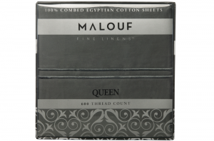 600 Thread Count Egyptian Cotton Slate Sheet Set
