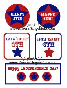 small 4th of july tags
