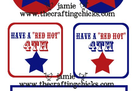 {4th of July Treat Tags and Cupcake Toppers***Free Printables}