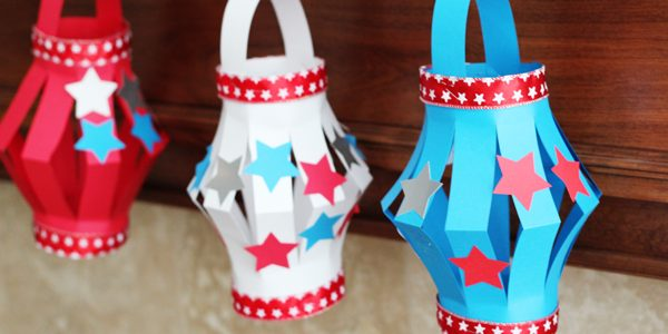 Paper Lantern Kid's Craft*4th of July Style