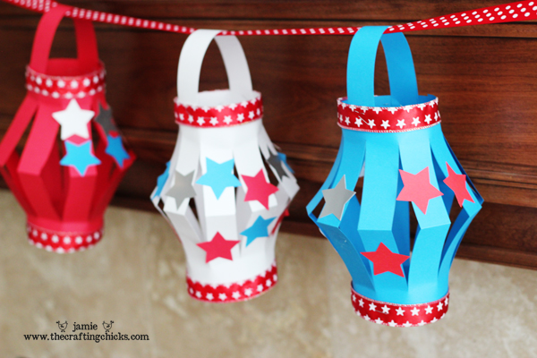 paper lanterns craft ideas paper lantern kid s craft 4th of july style the crafting 5099