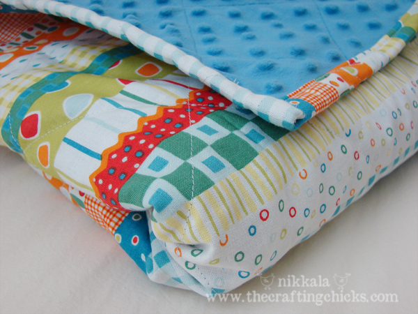 Minky Baby Blanket Simplified - The Crafting Chicks