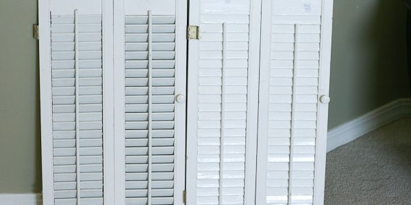 Repurposed Shutters {wall display}