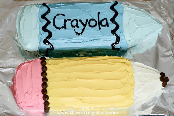 pencil and crayon cake