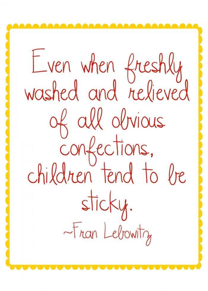 sticky children