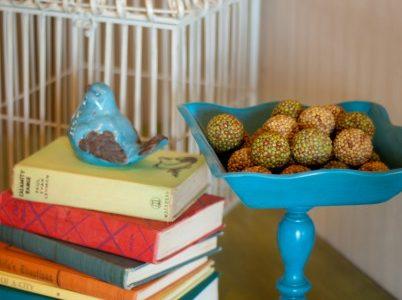 Wooden Pedestal Bowls::Guest Post Kristin