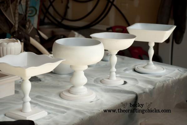 Pedestal Bowls primed