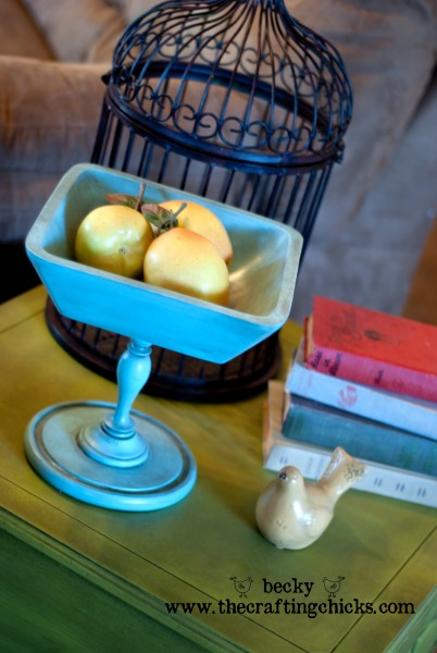 Teal Pedestal Bowl