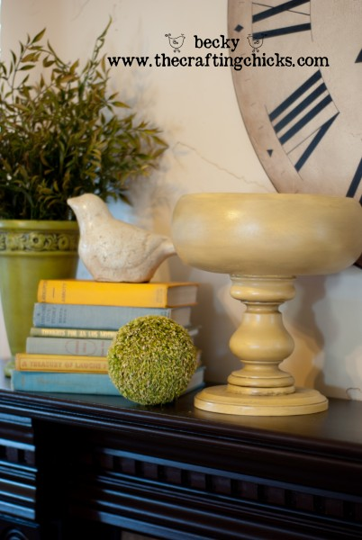 Yellow Pedestal bowl