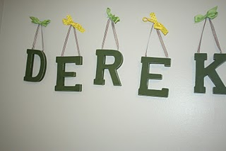 DIY Hanging Names