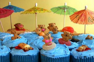 Bikini Bears Cupcakes