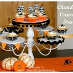 Chandelier Cupcake Stand {trash to treasure}