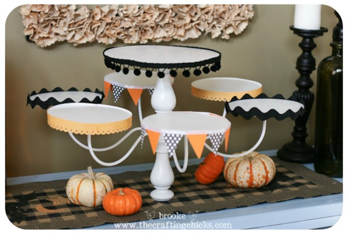 chandelier cupcake stand trimmed