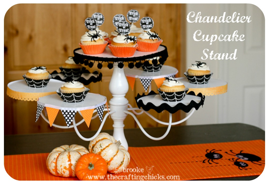 chandelier cupcake stand - Halloween Cupcake Holder