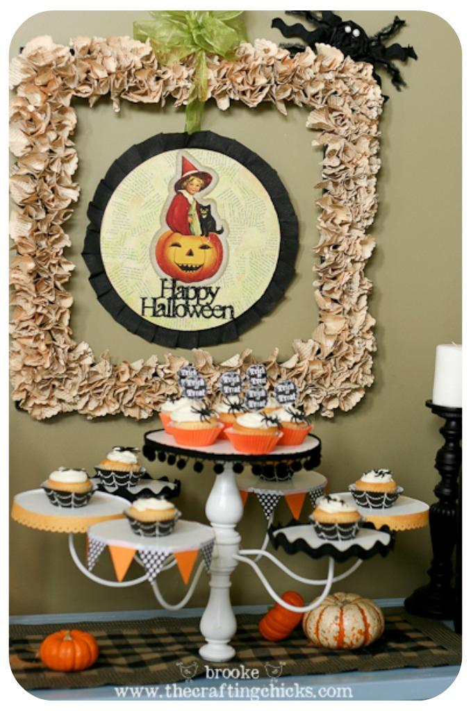 halloween chandelier cupcake stand