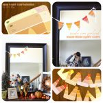 Paint Chip Candy Corn Garland…3 minutes to make