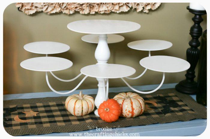 plain chandelier cupcake stand