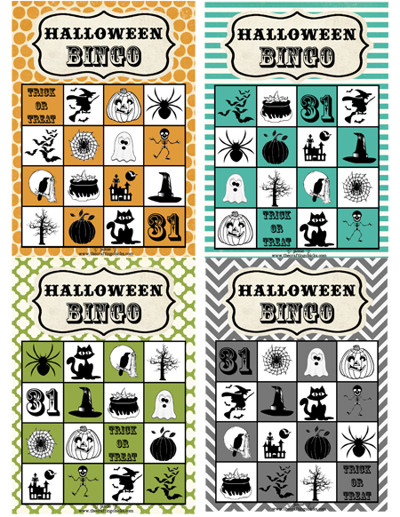 image about Printable Halloween Bingo Cards identify Halloween Bingo Free of charge Down load