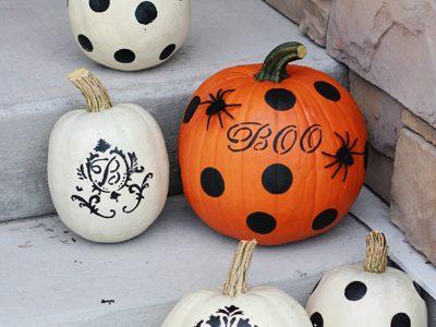 {Painting Pumpkins-Martha Stewart Style}