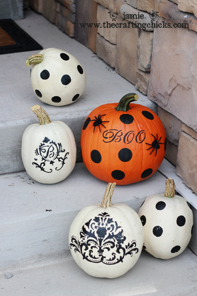 Painting pumpkins martha stewart style the crafting chicks Funny pumpkin painting ideas