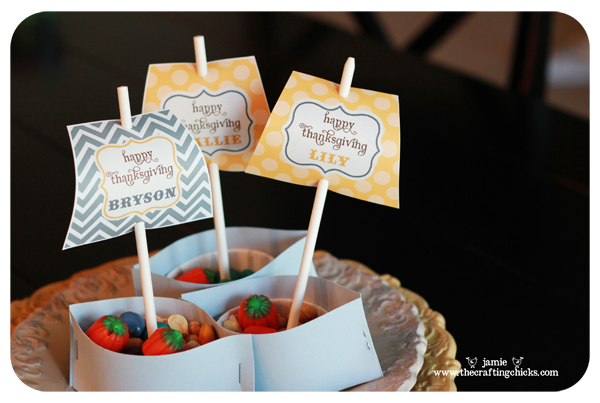 Mini Mayflower Nut Cup Thanksgiving Place Cards