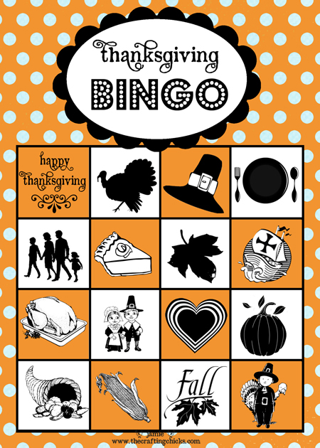 Thanksgiving Bingo Printable Game