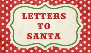 letters to santa topper