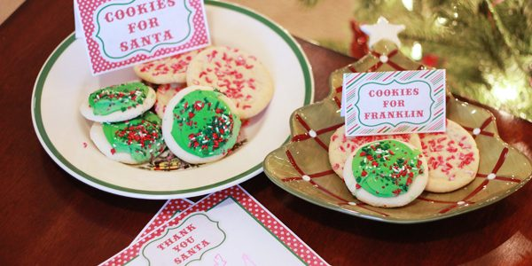 {Thank You Santa Stationery & Cookies for Santa Tags ****Free Downloads}