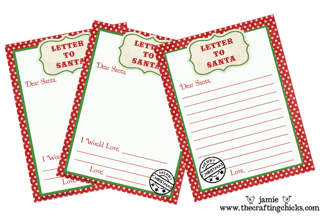 Letter To Santa Free Printable Download  Christmas List To Santa Template
