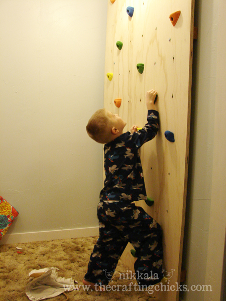 Indoor Climbing Wall - The Crafting Chicks