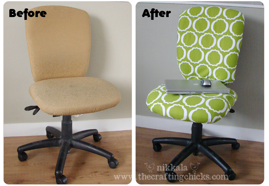 reupholster a rolling desk chair 2