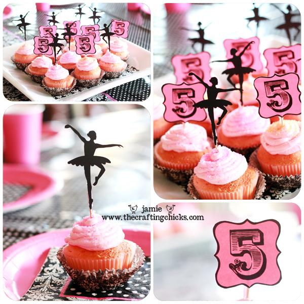 sm ballet party cupcakes