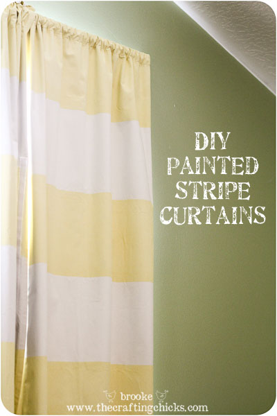 DIY Striped Blackout Curtains {using ScotchBlue Painter's Tape with Edge-Lock Protector}