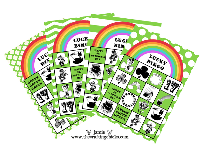St. Patrick's Day Lucky Bingo Printable Game