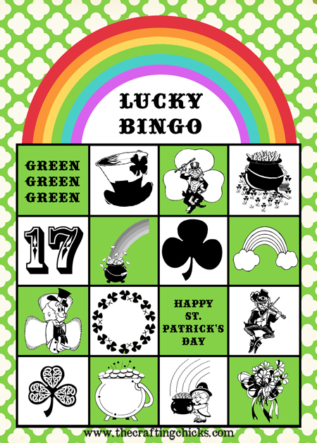 Free printable Lucky BINGO from thecraftingchicks.com