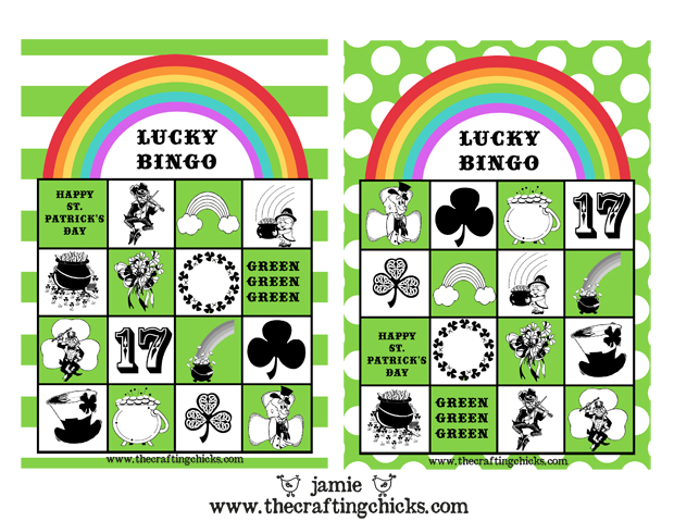 Printable Game St. Patrick's BINGO