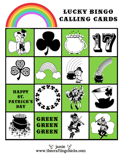 Kids will have fun playing this Lucky Bingo for St. Patrick's Day!