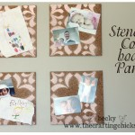 Stenciled Cork Board Tiles {Giveaway}