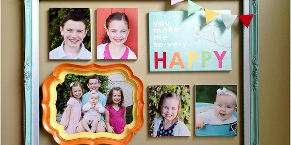 Colorful Framed Gallery Wall for Mother's Day {with Martha Stewart Crafts}