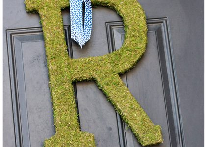{DIY Moss Letters}
