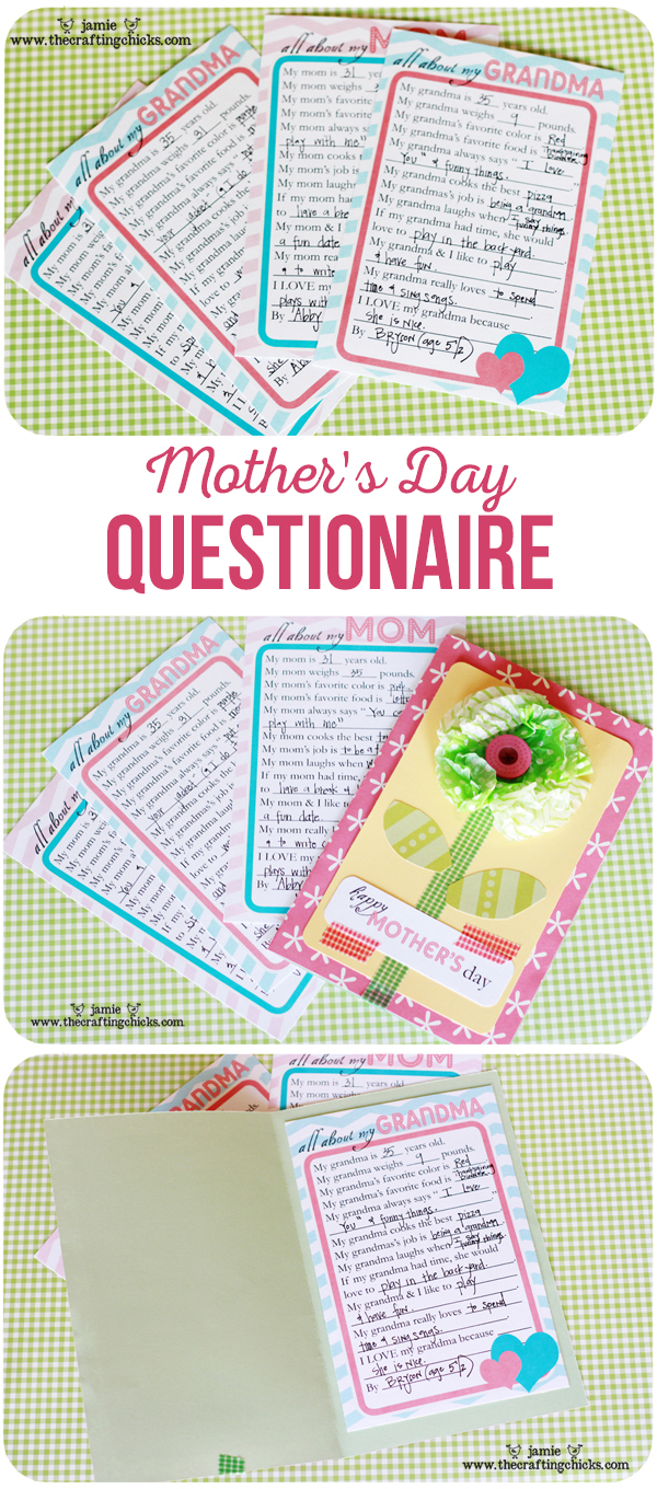 Printable Mother's Day Questionaire