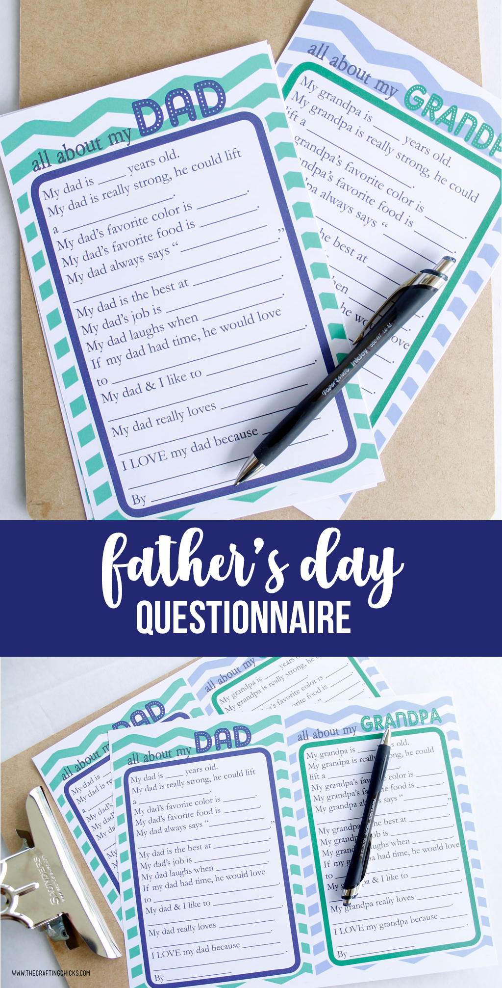 image about All About My Papa Printable named Fathers Working day Questionnaire Totally free Printable - The Composing