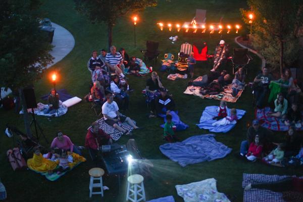 Backyard Movie Night Party : Backyard movie night with the friends  My Kids  Pinterest