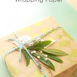 Stenciled wrapping paper & Giveaway