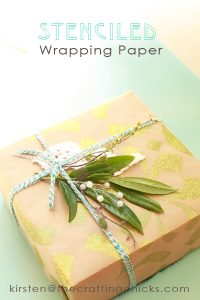 stenciled wrapping paper 1