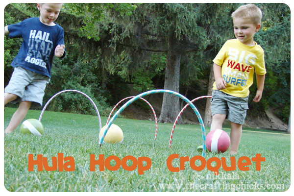 Hula Hoop Croquet by The Crafting Chicks